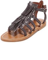 K. Jacques Fringe Sandals