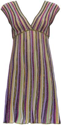 M Missoni Striped V-Neck Dress