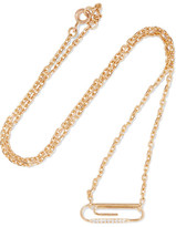 Aurelie Bidermann 18-karat Gold Diamond Necklace - one size