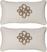Miles Talbott Collection S/2 Glynn 12x23 Pillow, Antiqued White