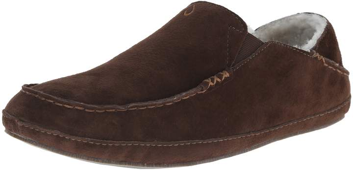 OluKai Men's Moloa Slipper (, Dark Java/Dark Java)