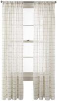 Martha Stewart MarthaWindowTM Windowpane Rod-Pocket Sheer Panel