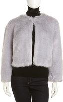 Annabelle New York Faux Fox-Fur Chubby Jacket, Light Purple