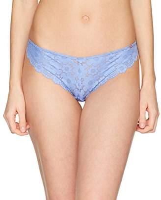 Skiny Women's Soft Flower Rio Slip Bikini, Ceramic Blue 9322), UK