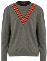 Stella Mccartney V-appliqué Crew-neck Sweater