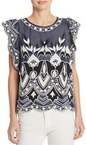 Parker Wyatt Embroidered Chambray Top