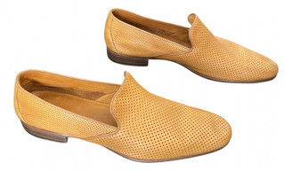 Sergio Rossi Camel Leather Flats