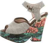 Carven Printed Platform Wedges