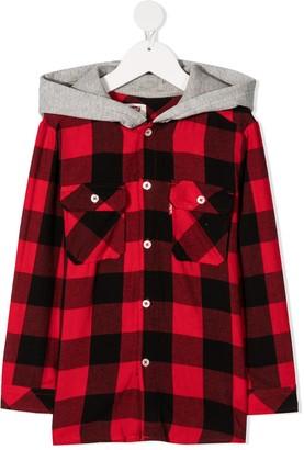 Levi's Hooded Buffalo-Check Shirt