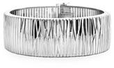 """Zales 26.0mm Diamond-Cut Cleopatra Chain Bracelet in Sterling Silver - 7.5"""""""