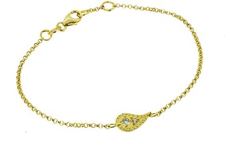 Yvonne Henderson Jewellery Paisley Charm Bracelet With White Sapphires Gold