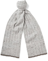 Brunello Cucinelli - Ribbed Virgin Wool-blend Scarf