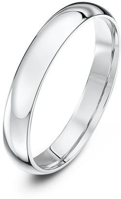 Theia Palladium 500 Heavy Weight Court Shape 3mm Wedding Ring - Size J