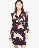 Ann Taylor Blooms Ruffle Shirtdress