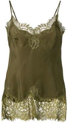 Gold Hawk Lace Panel Top