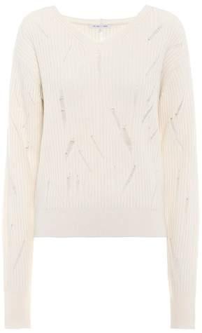 Helmut Lang Distressed wool sweater