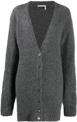 See by Chloe Long-Line V-Neck Cardigan