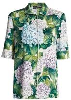 Dolce & Gabbana Hydrangea-print charmeuse pyjama top