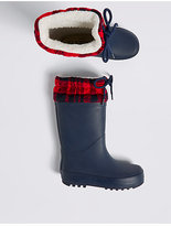 Marks and Spencer Kids' Knitted Cuff Welly Boots