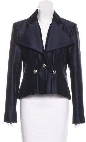 Chanel Satin Notch-Lapel Blazer w/ Tags