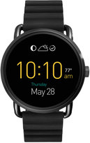 Fossil Q Wander Black Silicone Strap Touchscreen Smart Watch 45mm FTW2103