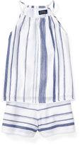 Ralph Lauren Striped Cotton Top & Short Set