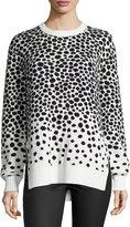 Mara Hoffman Dot-Print Sweater, Strata