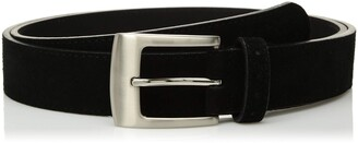 Stacy Adams Men's 32mm Suede Leather Belt with Perforated Tip and Keeper