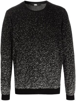 Karl Lagerfeld Paris Two-Tone Intarsia-Knit Jumper