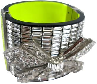 Chanel Silver Crystal Bracelets