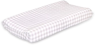 The Peanut Shell Farmhouse Checkered Changing Pad Cover