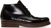 Junya Watanabe Black Heinrich Dinkelacker Edition Lace-up Boots