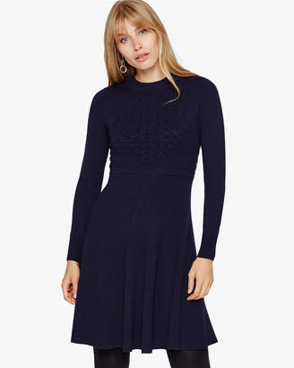 Phase Eight Karter Mixed Texture Knit Dress
