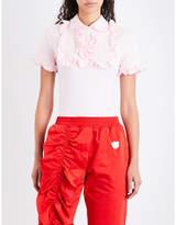 Nicopanda Sisters cotton-piqué bodysuit