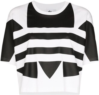 adidas logo-print cotton T-shirt