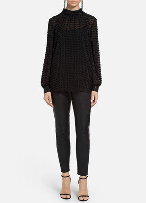 St. John Textured Dot Filcoupe Blouse
