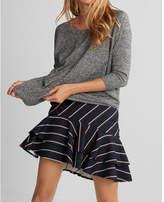 Express high waisted tiered mini skirt
