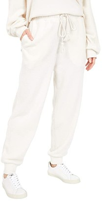 Lucky Brand Nubby Urban Fleece Joggers (Cream) Women's Clothing