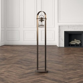 """Hubbardton Forge Erlenmeyer 51"""" Floor Lamp Finish: Natural Iron, Bulb: Incandescent"""