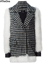 Yigal Azrouel contrast sleeve checked coat - women - Alpaca/Virgin Wool/Polyimide - 0