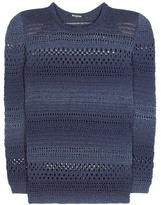 Balmain Metallic Cotton-blend Sweater