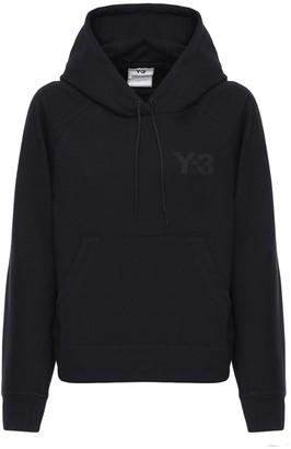 Y-3 Classic Logo Print Cotton Hoodie
