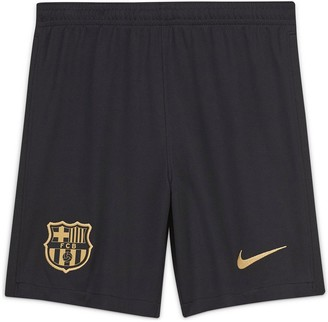 Nike Youth Barcelona 20/21 Away Shorts - Black/Gold