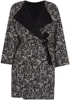 Max Mara Weekend Lente double faced printed wool coat