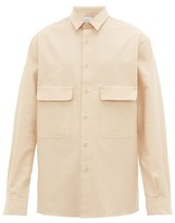 Raey Chest-pocket Brushed Cotton-twill Shirt - Mens - Light Brown