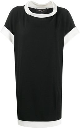 Paule Ka Contrast Trim Shift Dress