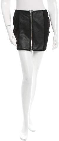 Anthony Vaccarello Leather Mini Skirt w/ Tags