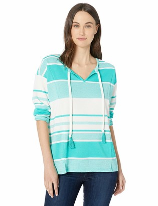 Chaus Women's 3/4 SLV French Terry Stripe Top