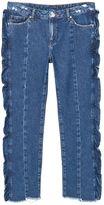 MANGO Frilled Organic Cotton Jeans