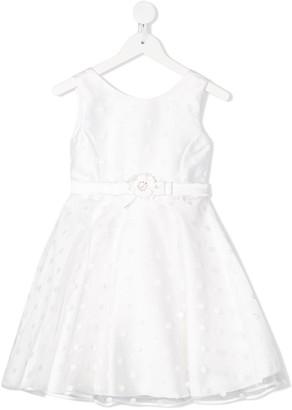 Abel & Lula Polka-Dot Tulle Flared Dress